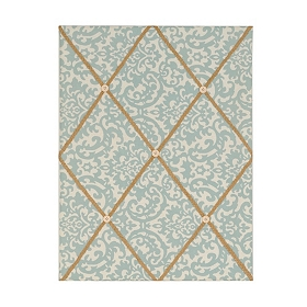 Blue Damask Memo Board