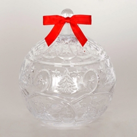 Christmas Ornament Glass Jar