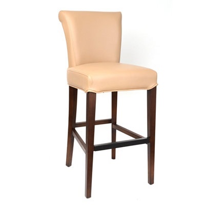 Bentley Taupe Bonded Leather Bar Stool