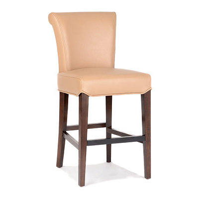 Bentley Taupe Bonded Leather Counter Stool