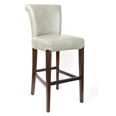 Bentley Gray Bonded Leather Bar Stool