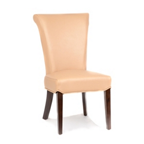 Bentley Taupe Bonded Leather Accent Chair
