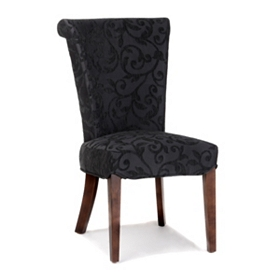 Bentley Black Damask Accent Chair