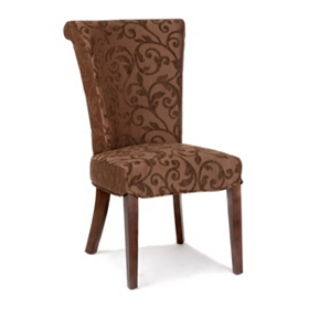 Bentley Brown Damask Accent Chair