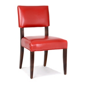 Portola Red Bonded Leather Accent Chair