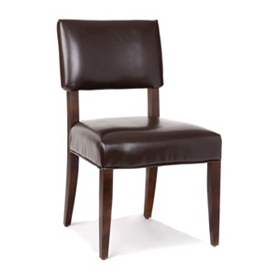 Portola Brown Bonded Leather Accent Chair