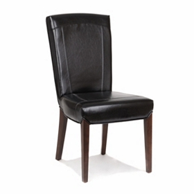 Parma Black Bonded Leather Accent Chair