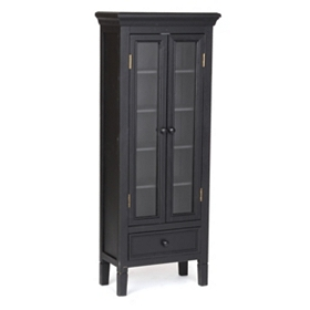 Verona Black Wood Cabinet, 48 in.