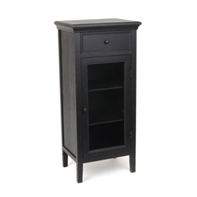 Verona Black Wood Cabinet, 42 in.