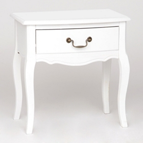 Modena White End Table