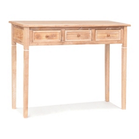 Verona Natural Wood Console Table