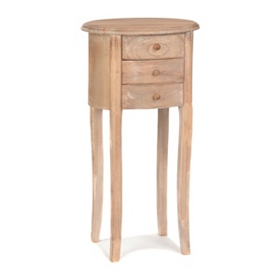 Modena Natural Wood Small Accent Table