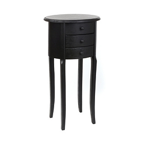 Modena Black Small Accent Table