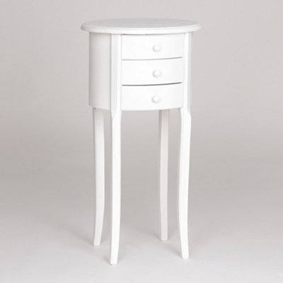 Modena Small White Accent Table