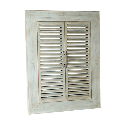 Brentwood Distressed Blue Shuttered Mirror