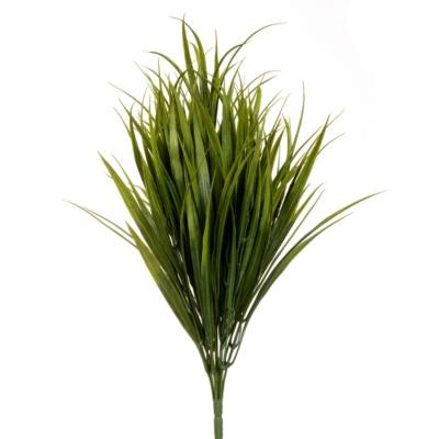 Dark Green Grass Bush, 19 in.