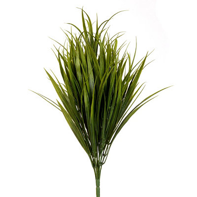 Dark Green Grass Bush, 19 in.