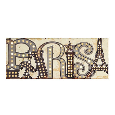 Paris LED Canvas Art Print