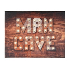 Man Cave LED Canvas Art Print
