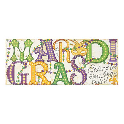 Mardi Gras LED Canvas Art Print