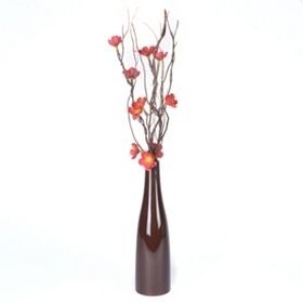 Pre-Lit Red Twisted Twig & Floral Arrangement