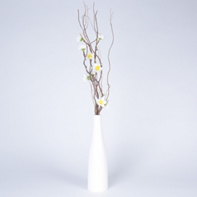 Pre-Lit White Twisted Twig & Floral Arrangement