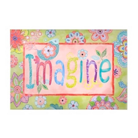 Imagine Canvas Art Print