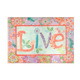 Live Canvas Art Print