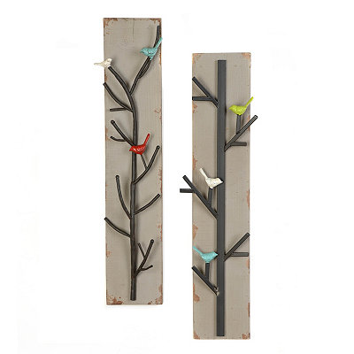 Birds & Branches Wood Plaques
