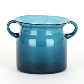 Blue Milk Jug Hurricane, 5 in.