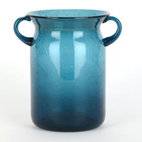 Blue Milk Jug Hurricane, 8 in.