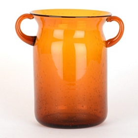 Orange Milk Jug Hurricane, 8 in.