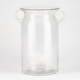 Clear Milk Jug Hurricane, 10 in.