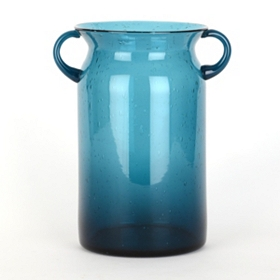 Blue Milk Jug Hurricane, 10 in.