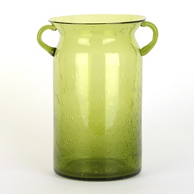 Green Milk Jug Hurricane, 10 in.