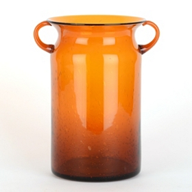 Orange Milk Jug Hurricane, 10 in.