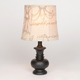 Louis Fleur-de-Lis Espresso Table Lamp