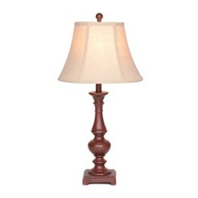 Burgundy Bishop Table Lamp
