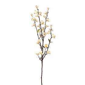 Pearl Metallic Apple Blossom Stem, 32 in.