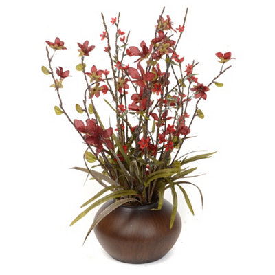 Red Star Flower Floral Arrangement