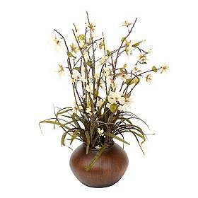 White Star Flower Floral Arrangement