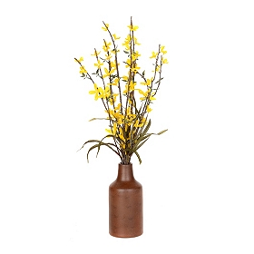 Blooming Yellow Buds Arrangement