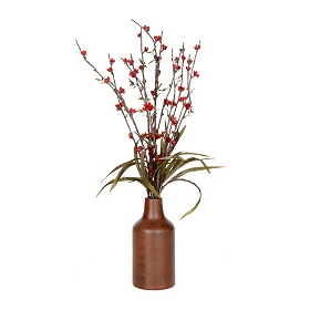 Blooming Red Buds Arrangement