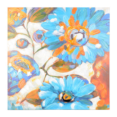Cerulean Spring Canvas Art Print