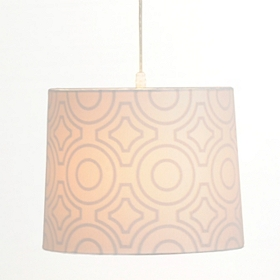 White Print Pendant Light