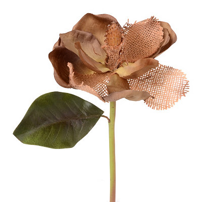 Brown Vintage Burlap Magnolia Stem, 16 in.