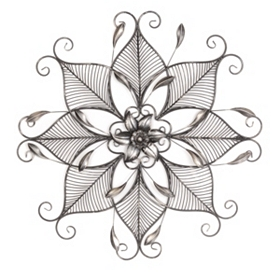 Floral Star Metal Wall Plaque