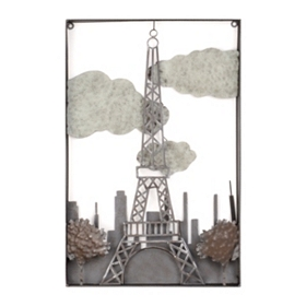 Metal Eiffel Tower Wall Plaque