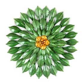 Blooming Flower Metal Wall Plaque