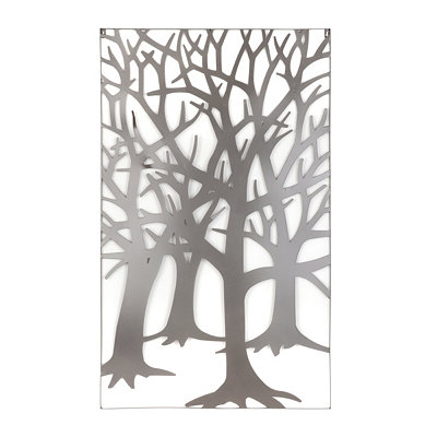 Forest Shadow Metal Wall Plaque